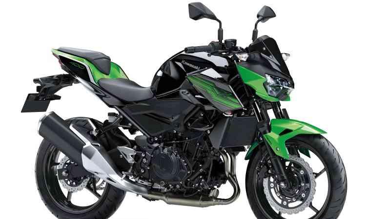 KAWASAKI Z 400 Com o mesmo quadro e freios da Ninja 400, a naked divide o motor com dois cilindros em linha e 48kg. O peso baixou em 1kg.  - Kawasaki/Divulgação