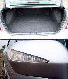 Capacidade do porta-malas é bem limitada. Retrovisores tem luzes de direção -