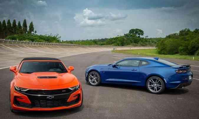 Chevrolet Camaro chegou com mudanças no visual e câmbio automático de 10 marchas(foto: Chevrolet/Divulgação)