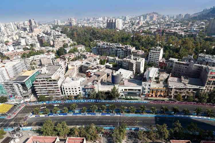 Vista área da cidade de Santiago, no Chile  - ABB/ Divulgação