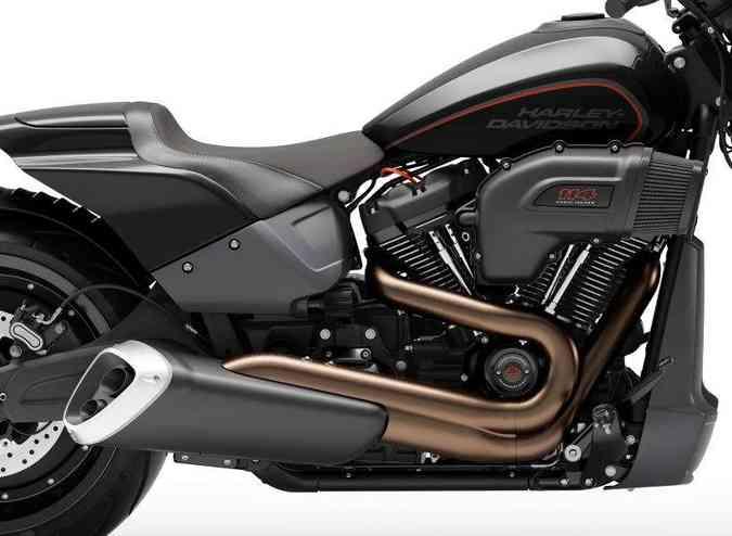 O motor Milwaukee Eight 114 fornece torque de 16,3kg a apenas 3.500rpm(foto: Mário Villaescusa/Harley-Davidson/Divulgação)