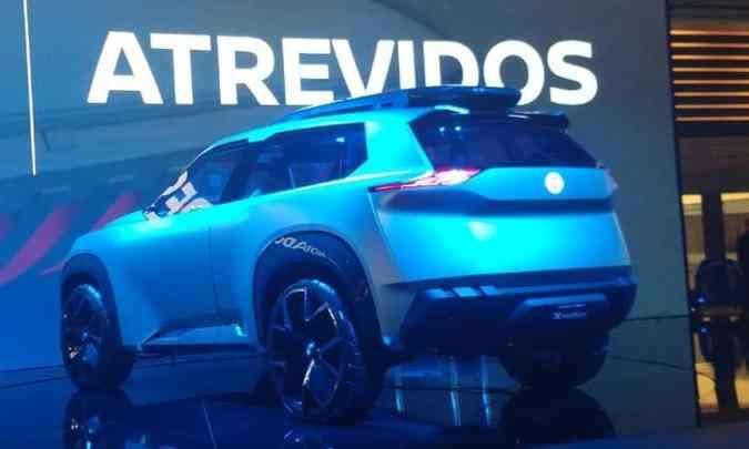 As linhas do Nissan X Motion servirão de inspiração para futuros modelos da marca(foto: Pedro Cerqueira/EM/D.A Press)