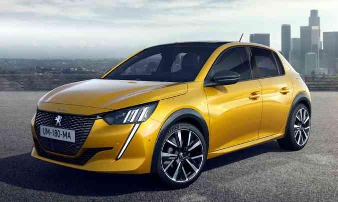 O novo Peugeot 208 elétrico só deve desembarcar por aqui em 2022(foto: Peugeot/Divulgação)