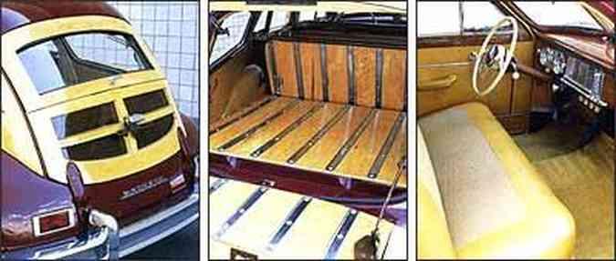 Tampa traseira dividida em duas partes facilita acesso ao compartimento de bagagem, e no interior, destaque para o amplo espaço e acabamento de boa qualidade. Porta-malas tem proteção de madeira