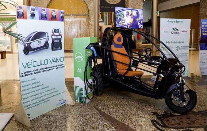 Custo para o uso dos veículos elétricos poderá ser de R$ 30 (1 hora) e R$ 40 (duas horas)(foto: Serttel/Divulgação)