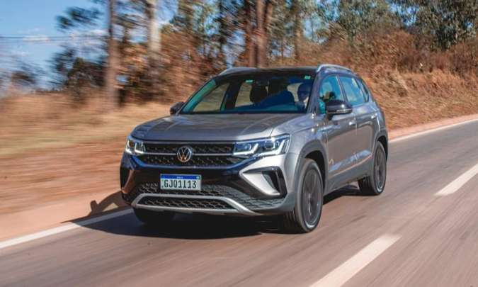 O SUV médio segue o padrão de estilo da VW, com linhas mais retas e formas robustas(foto: Jorge Lopes/EM/D.A Press)
