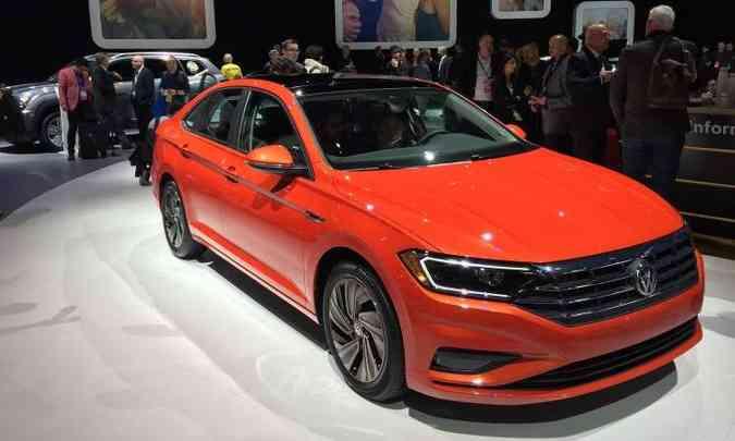 A Volkswagen apresenta o novo Jetta, que ganhou visual mais moderno e dimensões maiores(foto: Enio Greco/EM/D.A Press)