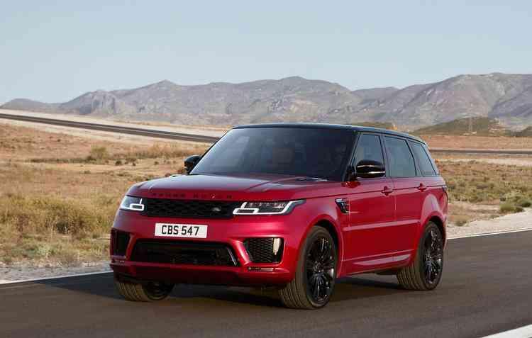 O Range Rover Sport recebeu atualização no design externo. Foto: Jaguar Land Rover / Divulgação -
