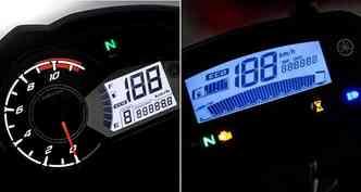 Os painéis têm conta-giros que indica economia e luz que indica se o motor está pronto para rodar(foto: Yamaha/Divulgação)