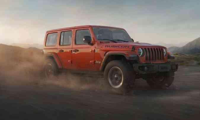 A versão Rubicon já está à venda nas concessionárias da marca, e chega trazendo equipamentos exclusivos(foto: Jeep/Divulgação)
