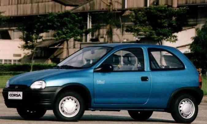 Chevrolet Corsa 1.0 valia R$ 7.350 em 1994, o que equivale a R$ 67.767,74 atuais(foto: Chevrolet/Divulgação)