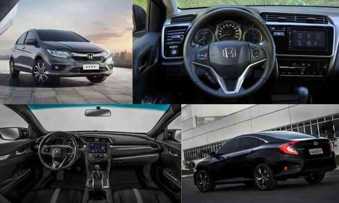 (foto: Colagem com fotos de divulgação da Honda, além de Juarez Rodrigues/EM/D.A Press)