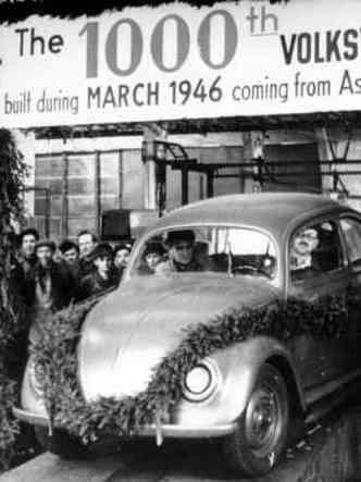 Milésimo Fusca produzido na Alemanha, em 1946(foto: Volkswagen/Divulgação)