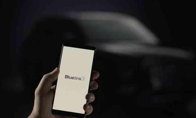 Destaque para a conectividade veicular Hyundai Bluelink, que oferecerá funcionalidades exclusivas(foto: Hyundai/Divulgação)
