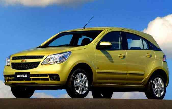 Lançado em 2009, o Agile ganhou a cor amarela mais marcante (foto: Chevrolet/Divulgação)
