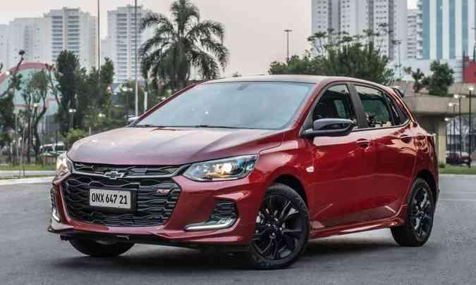A produção do Chevrolet Onix está interrompida até o fim de maio, por falta de peças(foto: Chevrolet/Divulgação)