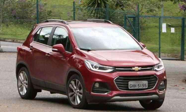 A linha 2018 do Chevrolet Tracker não trouxe alterações no visual e nem no conjunto mecânico - Edésio Ferreira/EM/D.A Press
