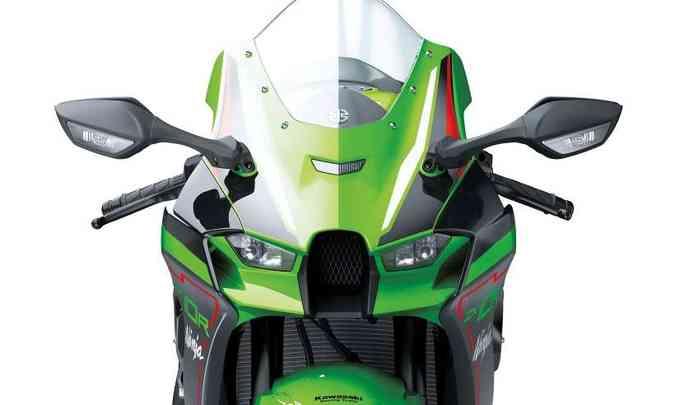As mudanças aerodinâmicas também estão no para-brisa, que ficou 40mm mais alto(foto: Kawasaki/Divulgação)