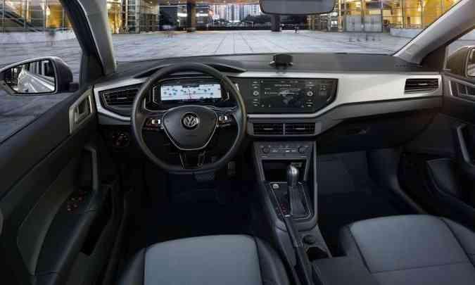 O plástico predomina no acabamento interno, mas o material é de boa qualidade(foto: Volkswagen/Divulgação)