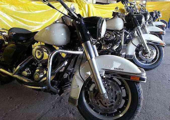 Harley-Davidson Road King Police foi fabricada em 2007(foto: Thiago Ventura/EM/D.A Press)