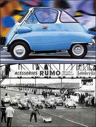 Primeiros modelos tinham motor italiano Iso de 200 cm³ e 12 cv e chegavam a 85 km/h. Até corridas em Interlagos a marca realizou para promover o carrinho, nos anos 50(foto: Reprodução da internet/Inventabrasilnet.t5.com.br - 4/10/06 (foto colorida))