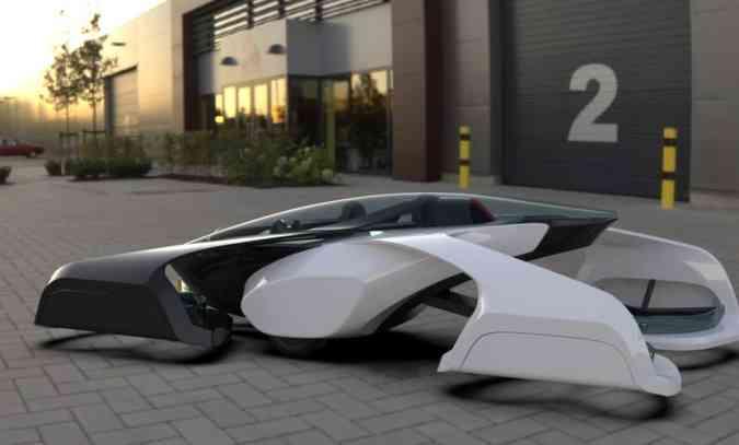 As dimensões permitem pousar/estacionar o veículo em duas vagas convencionais(foto: Sky Drive/Divulgação)