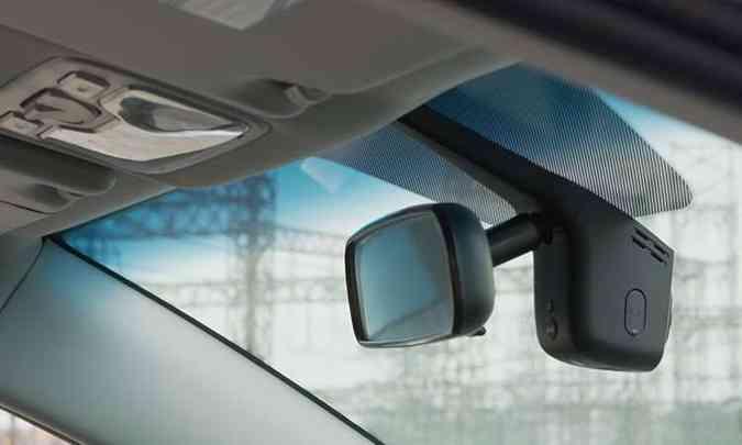 O JAC T50 tem cinco câmeras, entre elas a frontal, que pode ajudar a baratear o seguro do carro(foto: JAC/Divulgação)