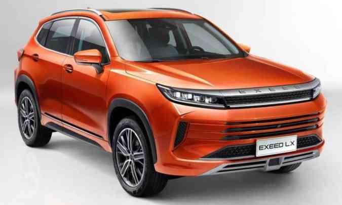 O Exeed LX é, provavelmente, o modelo que a Caoa Chery vai produzir no Brasil para concorrer com SUVs de marcas premium(foto: Chery/Divulgação)