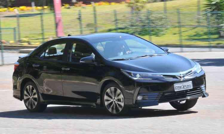 Toyota Corolla foi responsável por 43,08% do segmento dos sedãs médios, com 66.188 unidades vendidas - Jair Amaral/EM/D.A Press