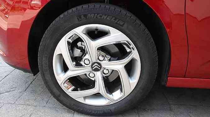 Rodas do Citroën C3 Exclusive 1.6 (foto: Marlos Ney Vidal/EM/D.A Press)