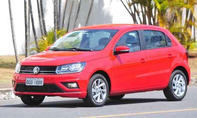 Gol é o modelo mais emplacado da Volkswagen(foto: Gladyston Rodrigues/EM/D.A Press)