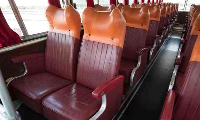 Interior tinha padrão de 36 poltronas, com opção de 38 ou 40 lugares(foto: Thiago Ventura/EM/D.A. Press)
