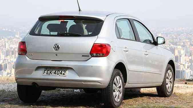 Estilo mais conservador do Volkswagen Gol denuncia idade do projeto(foto: Marlos Ney Vidal/EM/D.A Press)