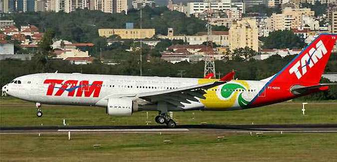 Airbus A330 da Seleção usado na Copa do Mundo da África do Sul (foto: (Marcos Oliveira/Airliners.net/Reprodução))