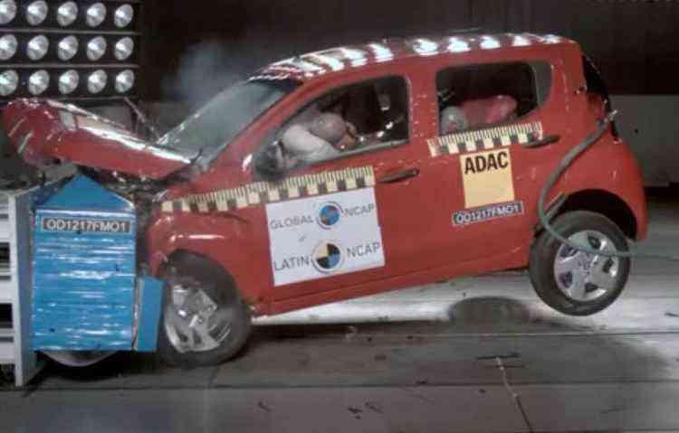 Fiat Mobi recebeu apenas uma estrela em segurança para adultos - Latin NCap / Divulgação