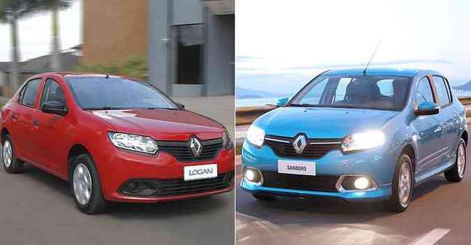 Recall é para as variadas versões do Sandero e Logan(foto: Renault/Divulgação)