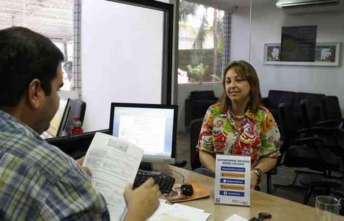 Patrícia Mércia apostou na credibilidade da revenda ao comprar seu carro usado (foto: Rodrigo Silva/Esp.DP/D.A Press)