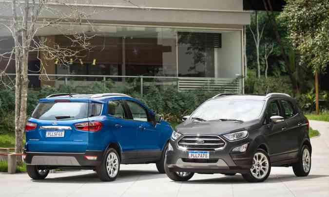 Uma das novidades da Ford no ano foi o EcoSport sem o estepe pendurado na tampa traseira(foto: Ford/Divulgação)