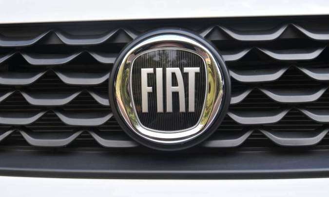 Logomarca da Fiat em preto ficou invocada(foto: Juarez Rodrigues/EM/D.A Press)