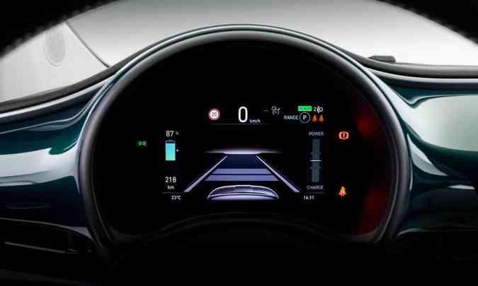 O painel de instrumentos tem tela de sete polegadas e é todo digital, com todas as informações para o motorista(foto: Fiat/Divulgação)