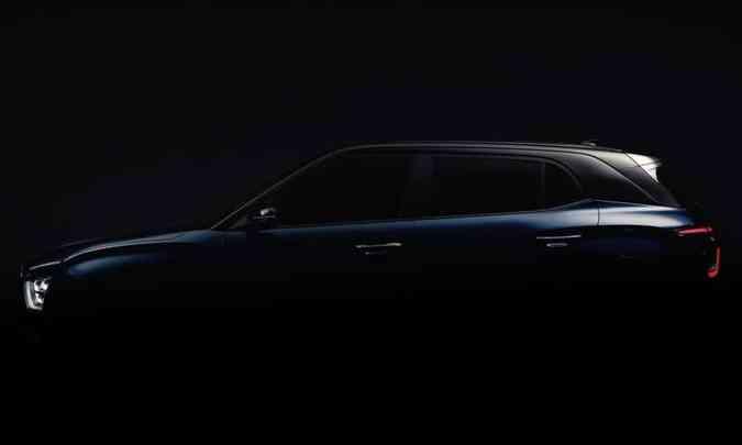 A Hyundai revelou apenas detalhe da silhueta do SUV compacto fabricado no interior de São Paulo(foto: Hyundai/Divulgação)