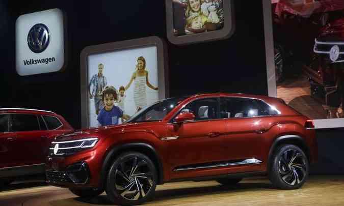 O SUV VW Atlas foi criado para o mercado norte-americano(foto: Drew Angerer/AFP)