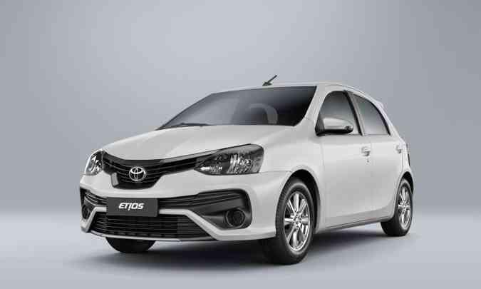 Desde 2012, foram produzidas 620 mil unidades do Etios hatch e sedã no Brasil(foto: Toyota/Divulgação)