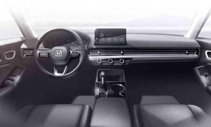 Ilustração do Civic Prototype sugerem que interior pode ter linhas bastante limpas(foto: Honda/Divulgação)