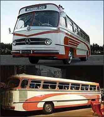 Mercedes-Benz foi a primeira montadora a oferecer no Brasil ônibus com motor traseiro e suspensão dianteira com molas helicoidais(foto: Wagner Malagrine/DaimlerChrysler/Divulgação)