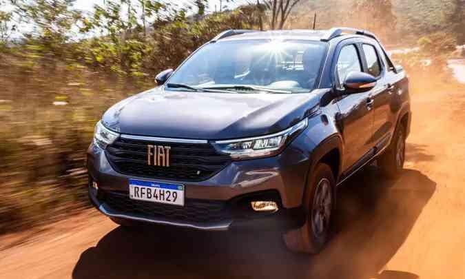 Fiat Strada continua se destacando e pode ser o segundo modelo mais vendido do país em 2020(foto: Jorge Lopes/EM/D.A Press)
