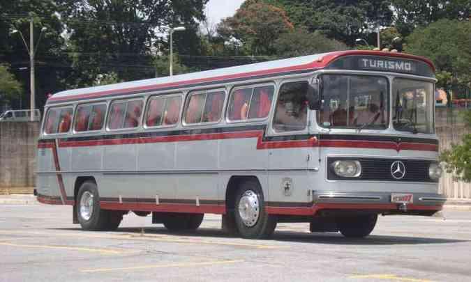Monobloco Mercedes-Benz O-362 ano 1977 é outra presença confirmada(foto: Bruno Freitas/EM/D.A Press)