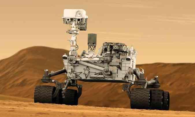 A Curiosity chegou a Marte em 2012 e ainda está operando(foto: Nasa/Divulgação)