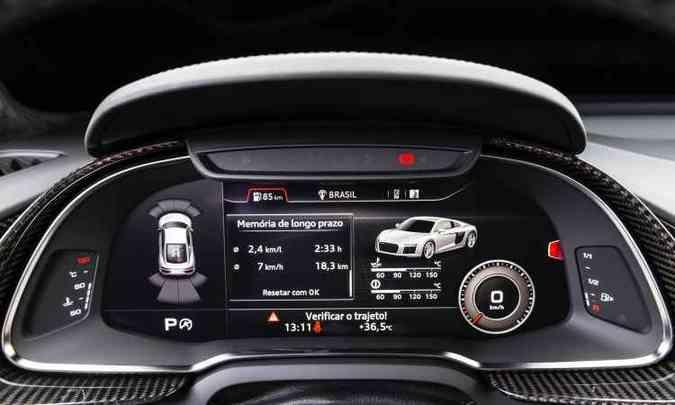 O Audi Virtual Cockpit fornece todas as informações bem à frente do motorista(foto: Audi/Divulgação)