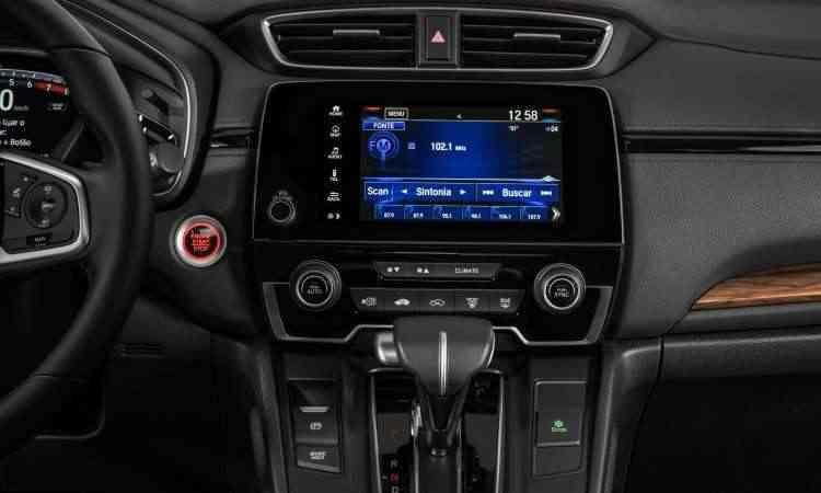 Sistema multimídia tem navegação nativa e espelhamento do smartphone com Apple CarPlay ou Android Auto - Honda/Divulgação